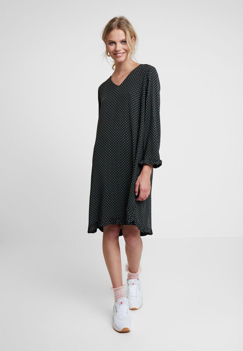 Saint Tropez - WOVEN DRESS ON KNEE - Day dress - black