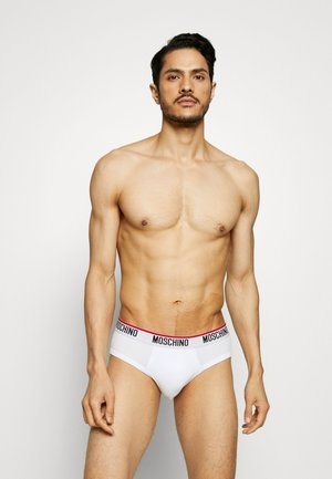 BRIEF 3 PACK - Briefs - black/white/gray melange
