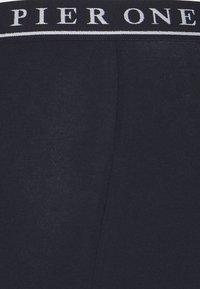 Pier One - 3 PACK - Boxerky - dark blue/mottled grey - 4