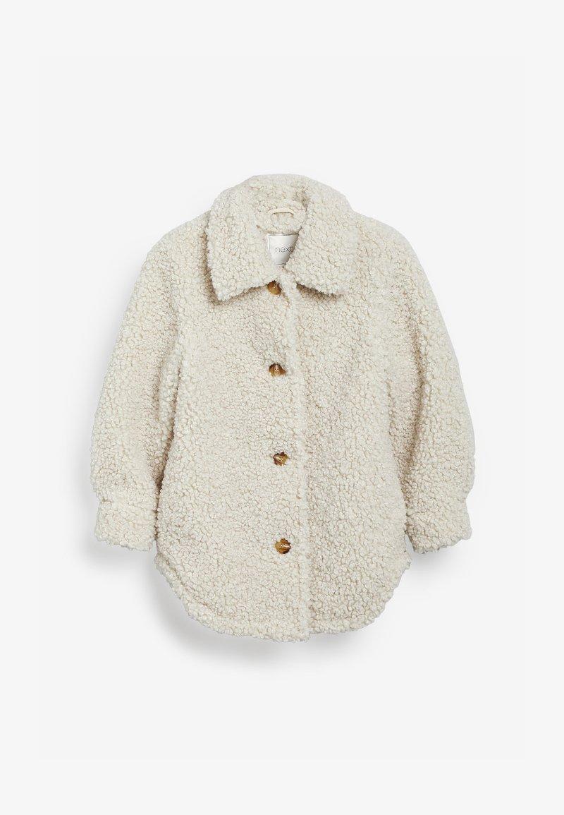Next - Fleecová bunda - off-white