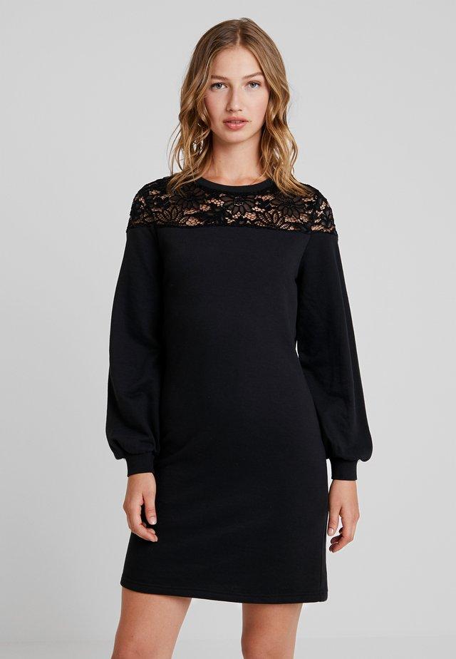 ONLCATALINA O-NECK  PLAIN DRESS - Robe d'été - black