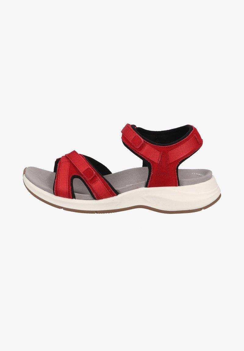 Clarks - Sandalias de senderismo - red