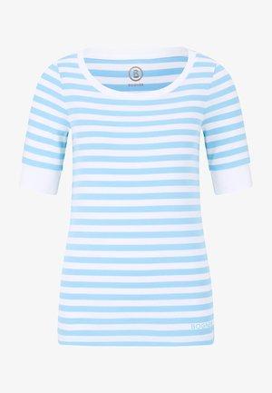 T-shirt imprimé - hellblau/weiß