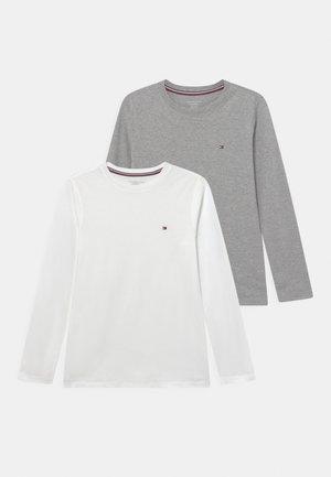 TEE 2 PACK - Longsleeve - white/medium grey