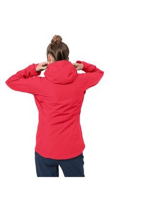 EAGLE PEAK - Waterproof jacket - tulip red