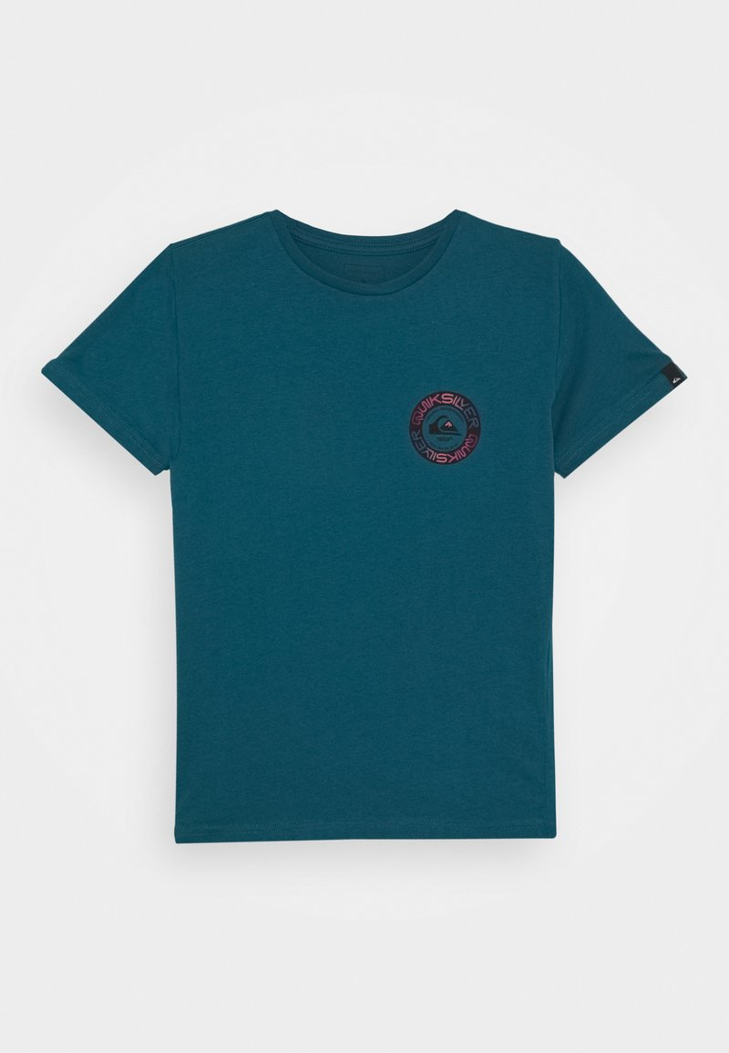 Quiksilver - TIME CIRCLE YOUTH - Print T-shirt - blue coral