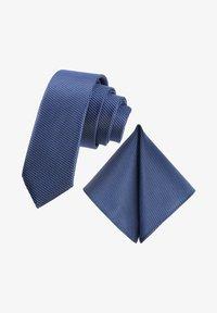 2-SET CASTRO JACQUARD  - Tie - royalblau schwarz ultramarinblau kariert petrol hell-blau gepunktet