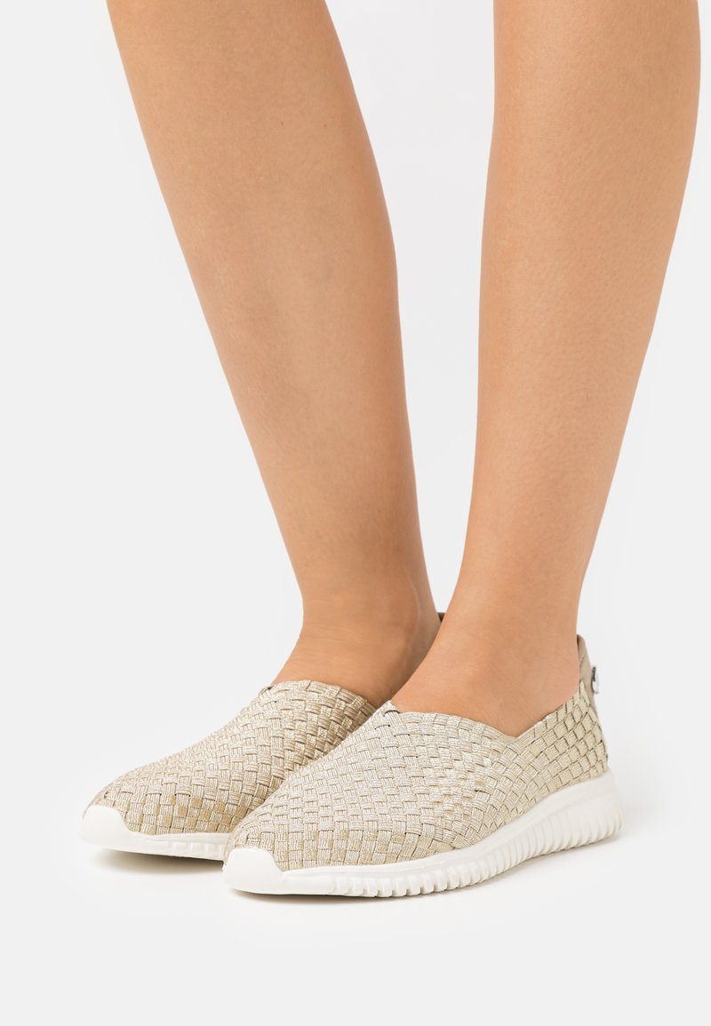 TOM TAILOR - Slip-ons - beige/gold