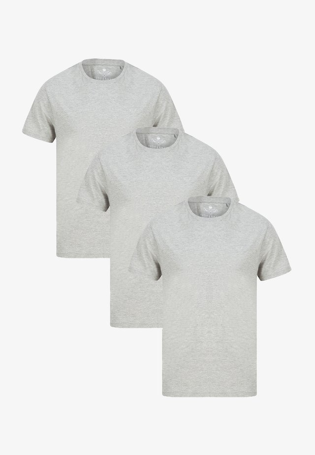 3ER PACK - T-shirt basic - grau