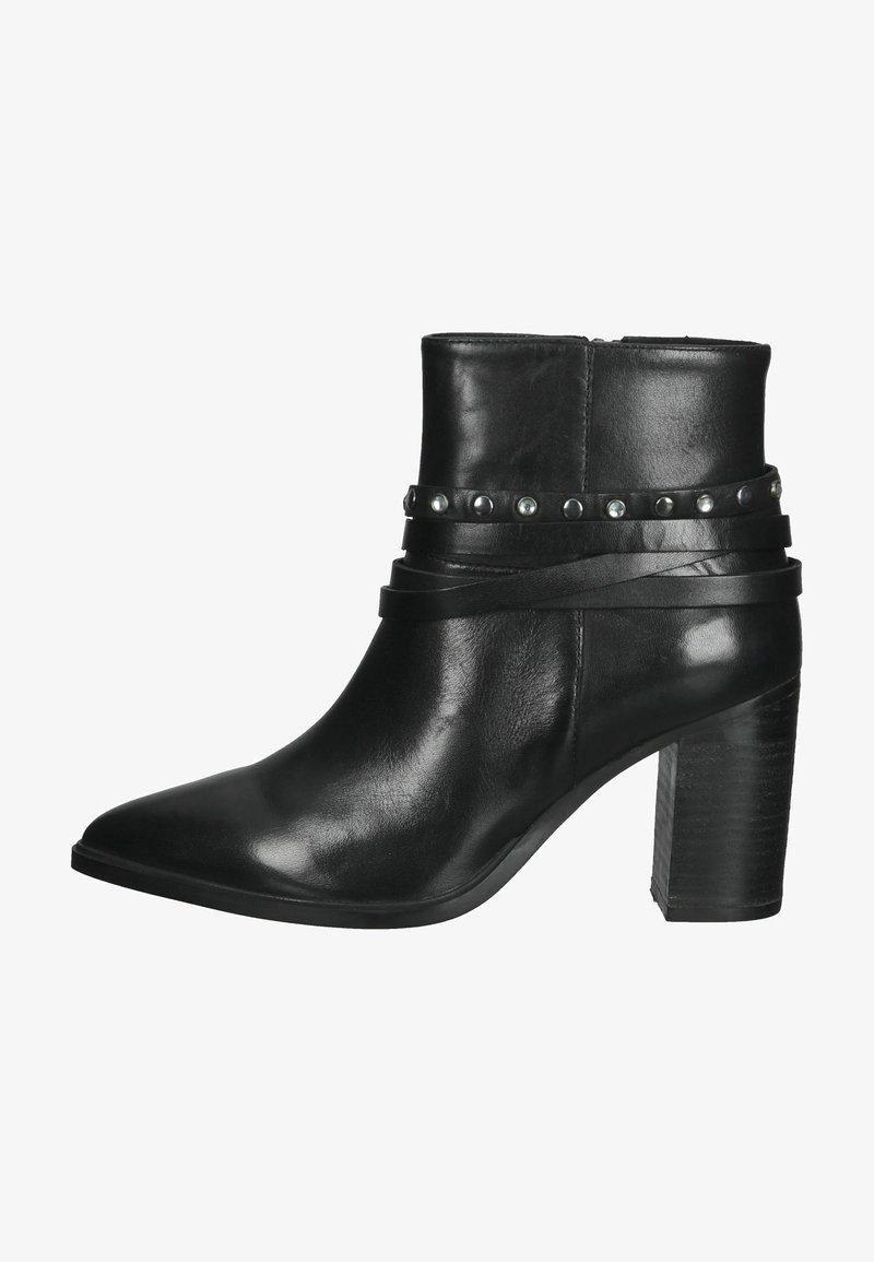 SPM Shoes & Boots - Enkellaarsjes met hoge hak - black leather