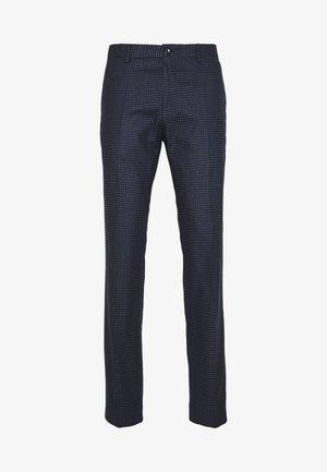 GINGHAM CHECK SLIM FIT PANT - Trousers - black