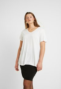 Kaffe Curve - KCANELI - T-shirt basique - optical white - 0