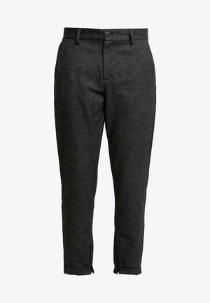 SLHSPECIA ALEX MIX ZIP PANTS - Pantalones - grey