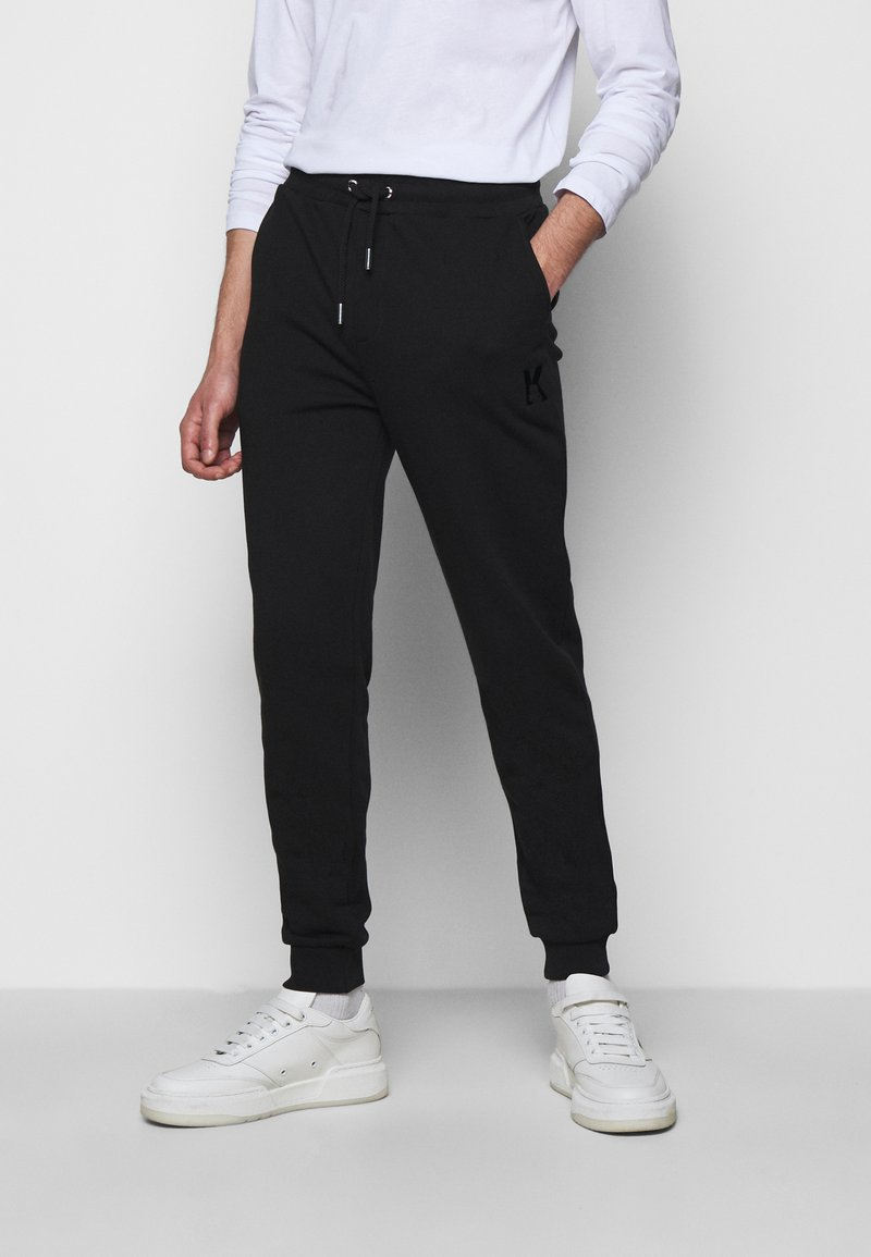 KARL LAGERFELD - PANTS - Tracksuit bottoms - black