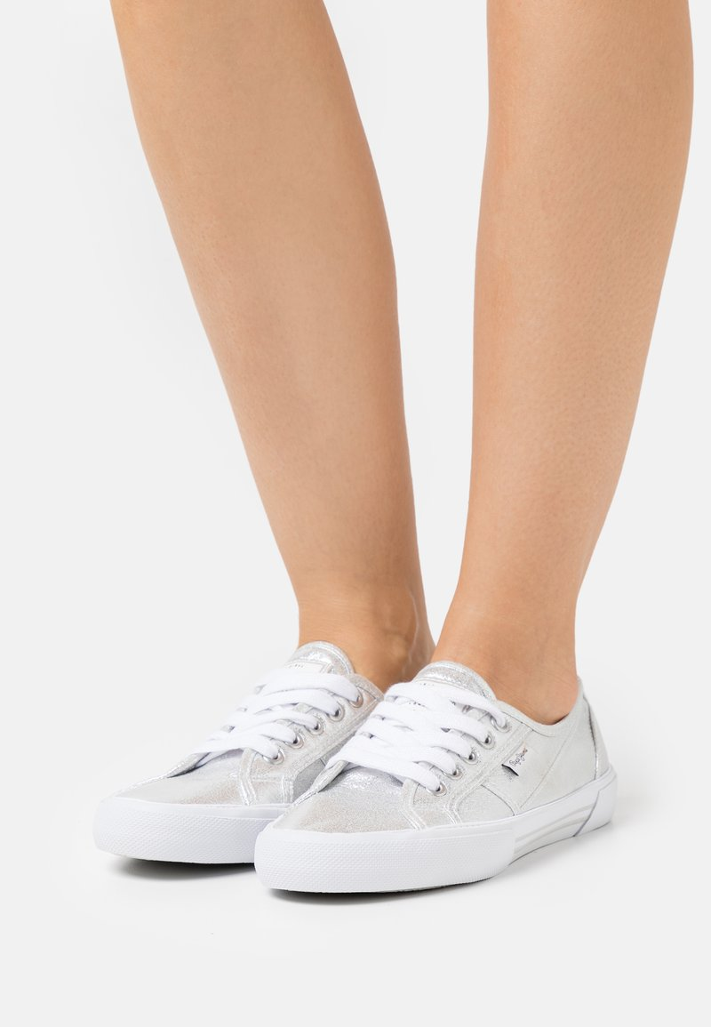 Pepe Jeans - ABERLADY SHINE - Trainers - silver