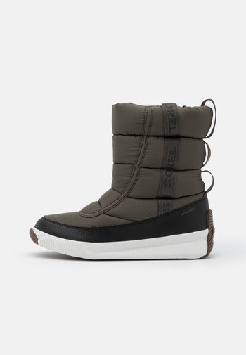 OUT ABOUT PUFFY MID MATTE RIPS - Winter boots - khaki