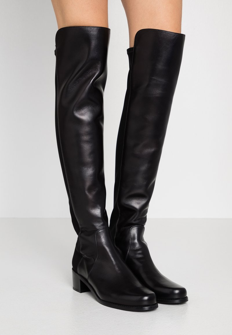 Stuart Weitzman - RESERVE - Kozačky nad kolena - black