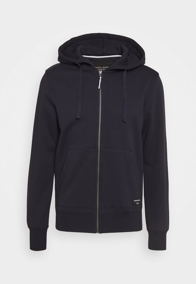 CENTRE ZIP HOOD - veste en sweat zippée - night sky