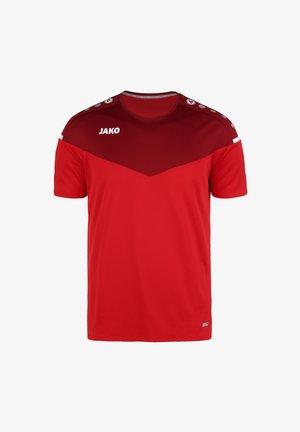 CHAMP - Print T-shirt - rot / weinrot