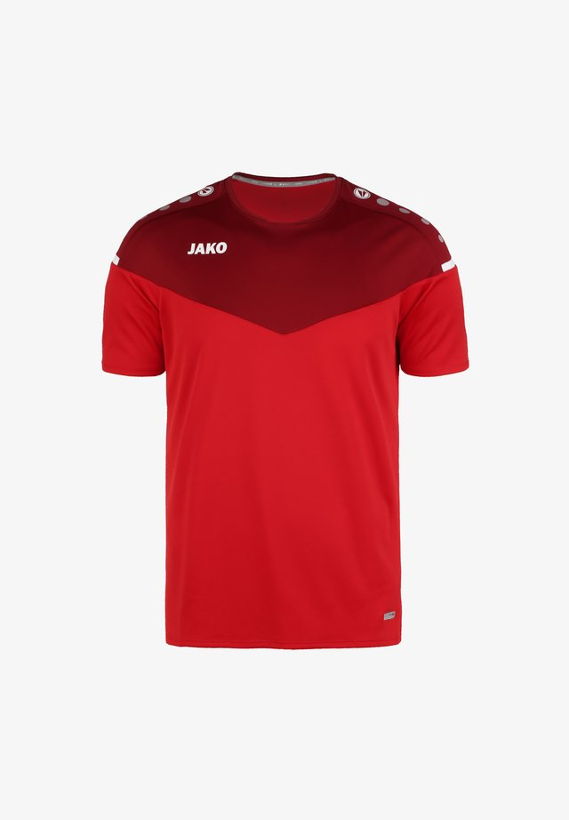 CHAMP - T-shirt con stampa - rot / weinrot