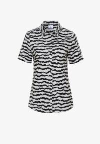 DESOTO - Button-down blouse - creme zebra print - 2