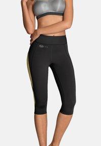 Anita - CAPRI  FITNESS - 3/4 sports trousers - gelb / anthrazit - 0