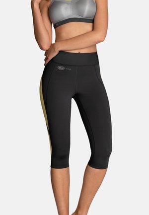 CAPRI  FITNESS - 3/4 sports trousers - gelb / anthrazit