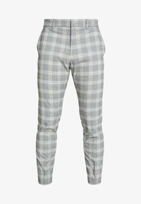 ULTRA CHECK - Trousers - beige