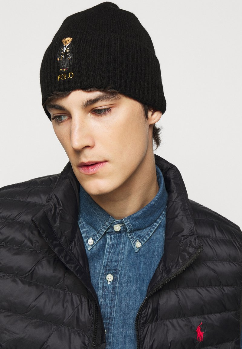 Polo Ralph Lauren - HOLIDAY BEAR HAT - Huer - black