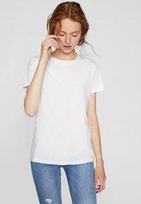 Stradivarius - T-shirts basic - white - 0