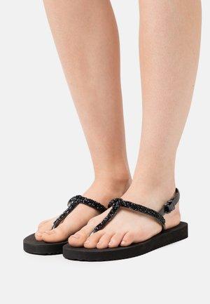 SPARKLE - T-bar sandals - black