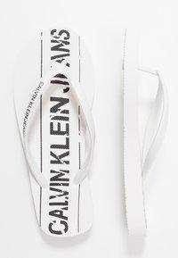 Calvin Klein Jeans - DASHEEN - Badesko - white/black - 3