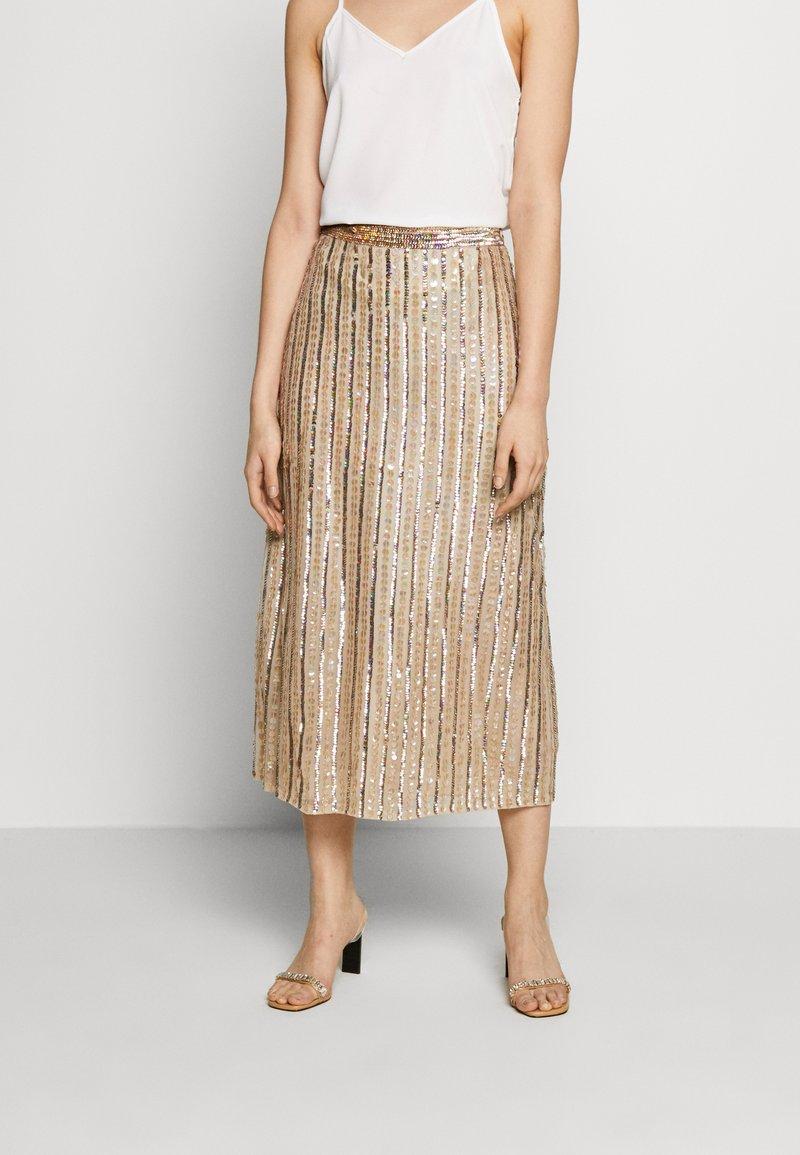 MANÉ - LAELIA SKIRT - A-line skirt - champagne/gold