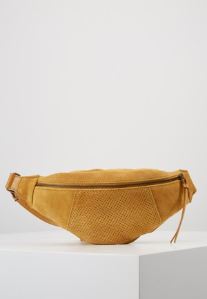 LEATHER  - Bum bag - mustard