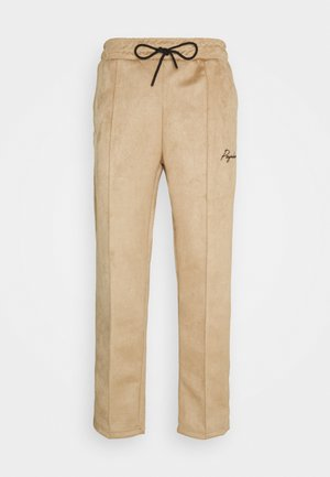WIDE PANTS - Kangashousut - almond