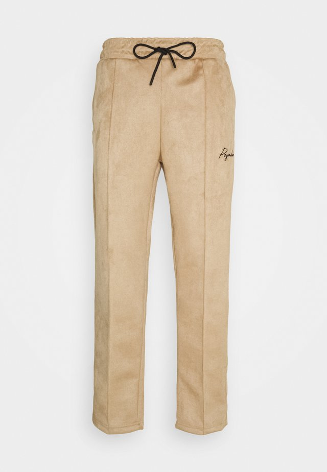 WIDE PANTS - Pantaloni - almond
