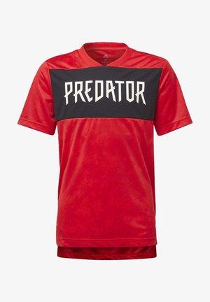 PREDATOR ALLOVER PRINT JERSEY - Print T-shirt - red