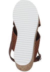 Piazza - Wedge sandals - cognac - 3
