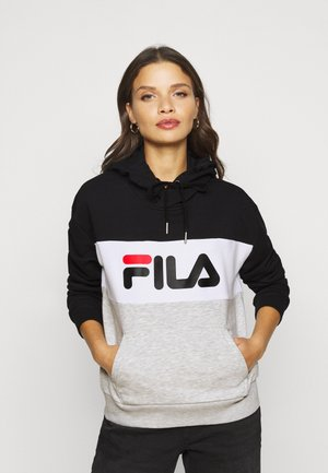 LORI HOODIE  - Hættetrøjer - black/light grey melange/bright white