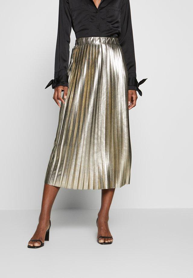 PLATINA - A-line skirt - golden