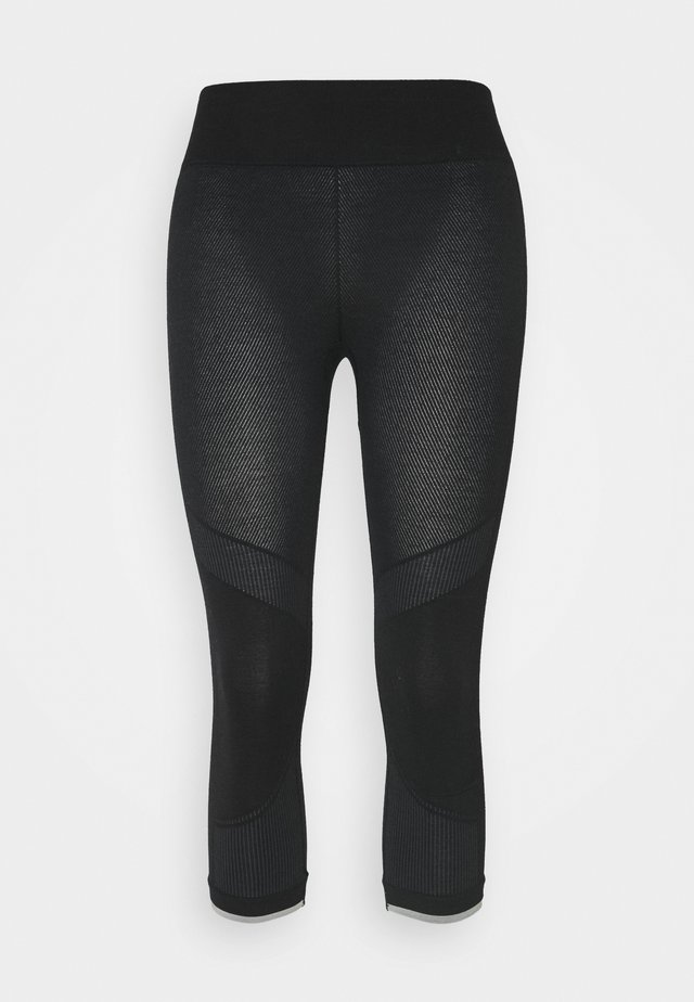 200 ZONE SEAMLESS LEGLESS - Pitkät alushousut - black