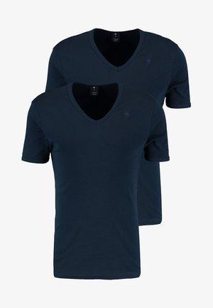 BASE V-NECK T S/S 2-PACK - T-Shirt basic - legion blue