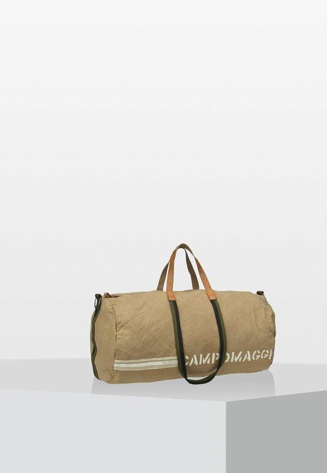 Weekend bag - beige/verde militare/stampa bi