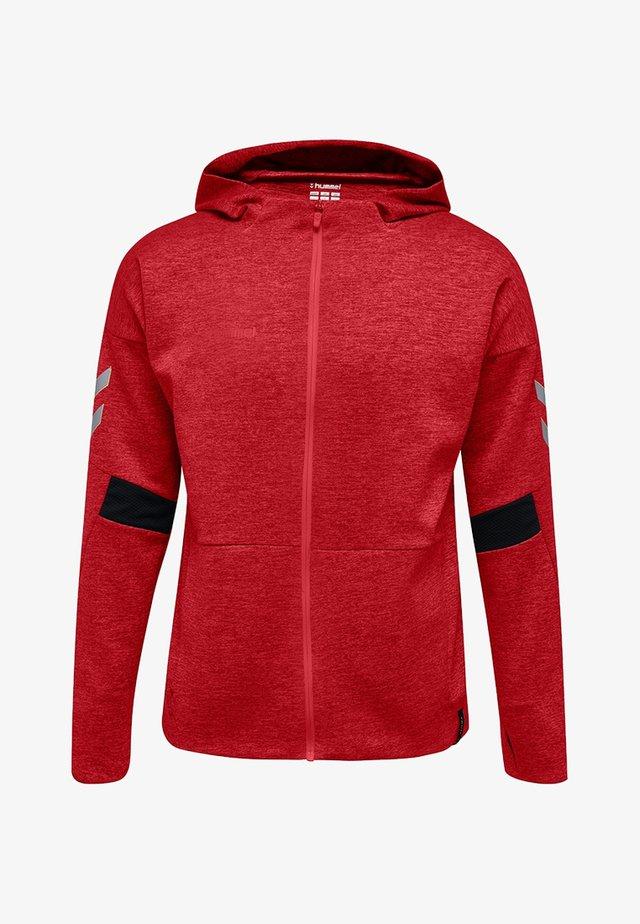 TECH MOVE  - Zip-up hoodie - red