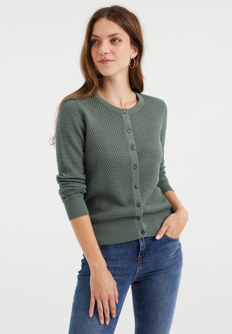 WE Fashion - Cardigan - olive green