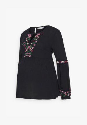 EMBROIDERED BLOUSE - Blouse - black