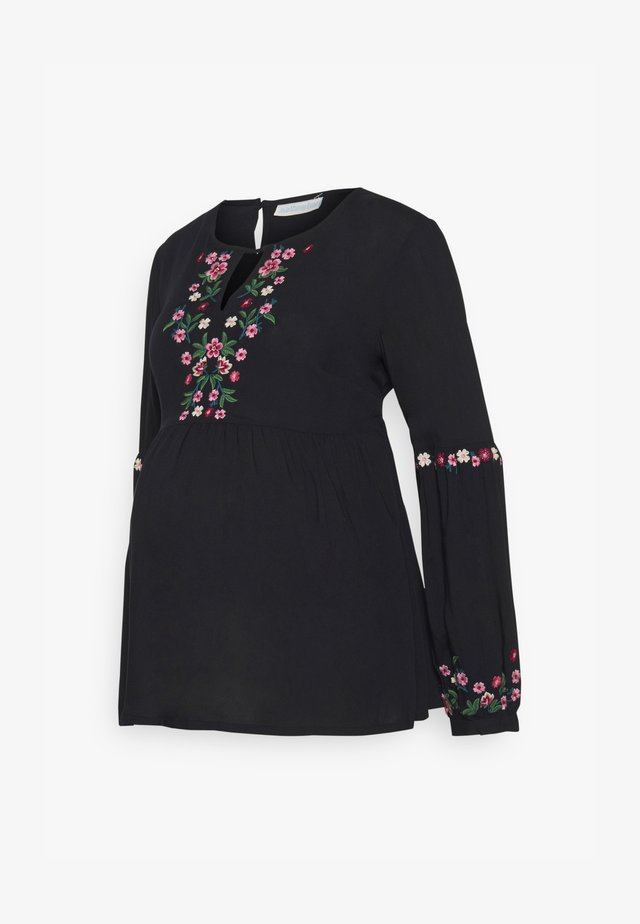 EMBROIDERED BLOUSE - Camicetta - black