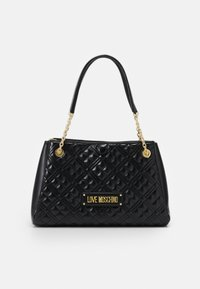 Love Moschino - NEW SHINY QUILTED - Tote bag - black - 0