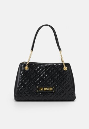 NEW SHINY QUILTED - Shopper - black