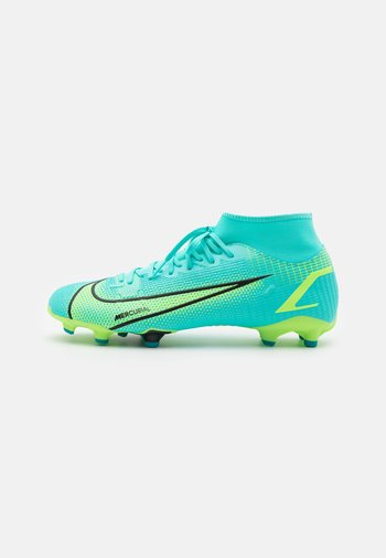MERCURIAL 8 ACADEMY FG/MG - Moulded stud football boots - dynamic turquoise/lime glow